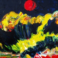 Time of the red moon. Oil on canvas, 40-60, 2008. (Pljmper short, sensitive perception).