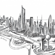 kuwait graphic view