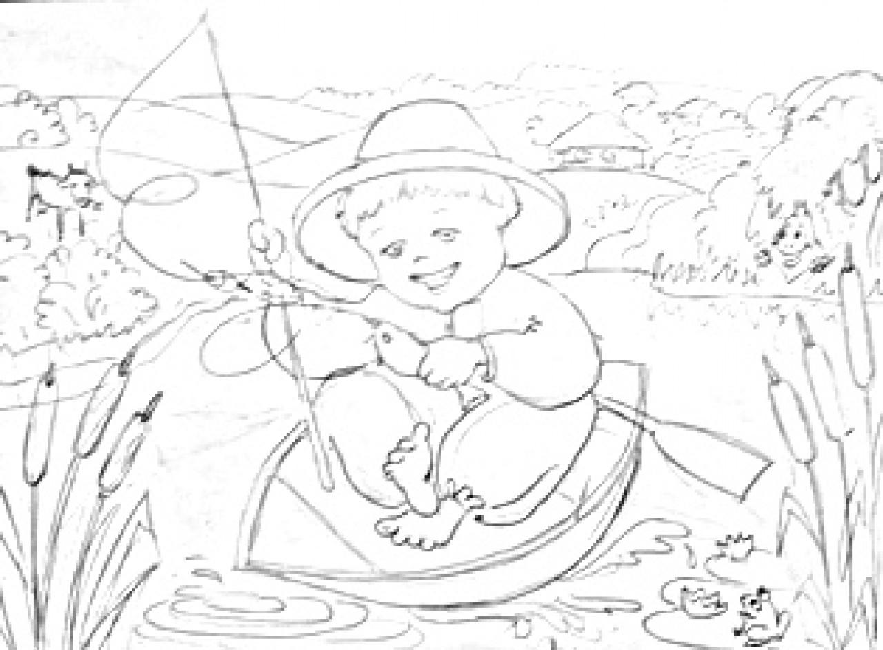 Ивасик-Телесик- рисунок-раскраска | Графика | Автор ...