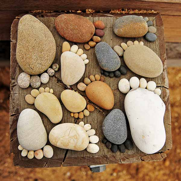 Рисунки из мелких камней своими руками