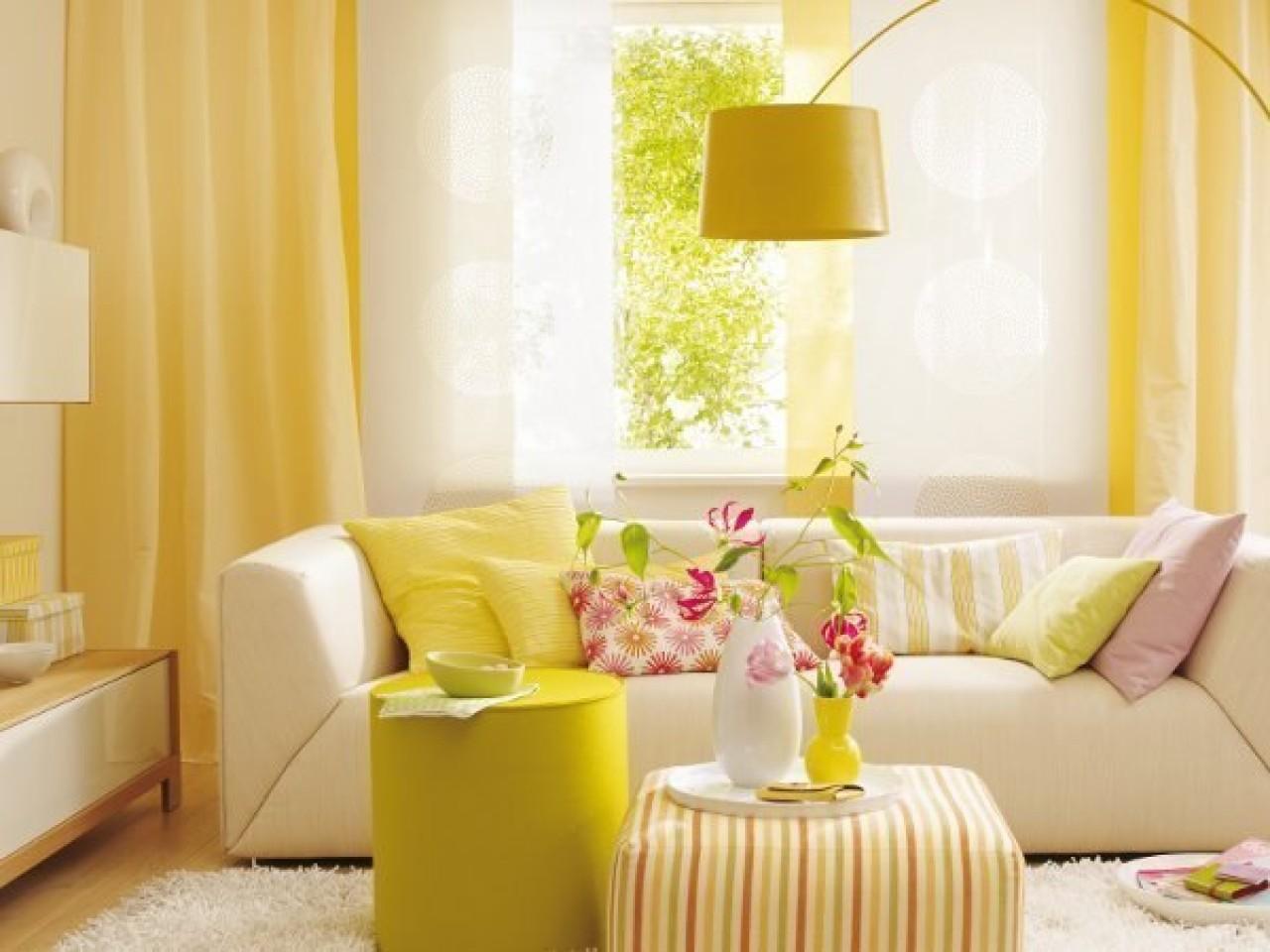 Жёлтый цвет в интерьере: позитивное настроение и тёплая атмо.