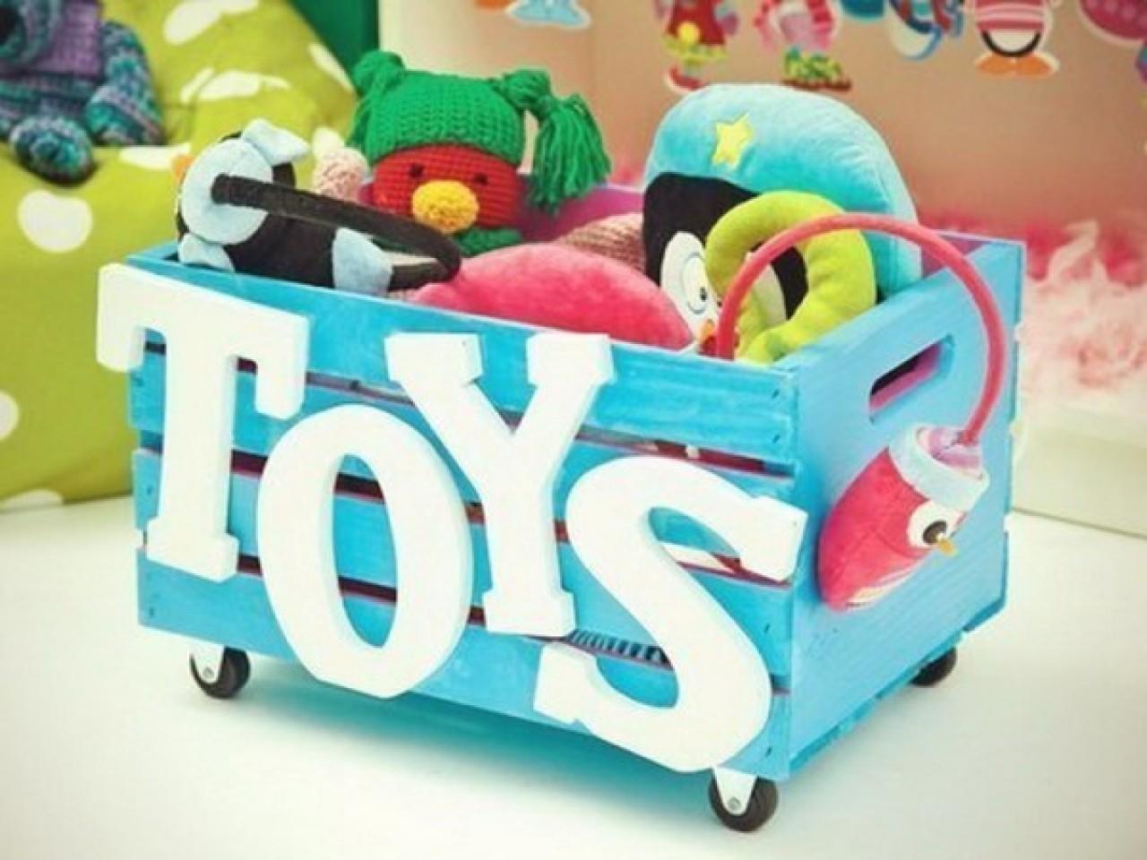 Красивый ящик для игрушек своими руками